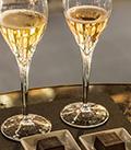 イングリッシュ・スパークリング・ワインのアペリティフ / dunhill Bar