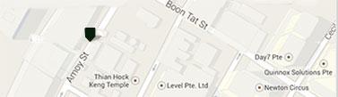 ベリー・ブラザーズ&ラッド シンガポール支店地図